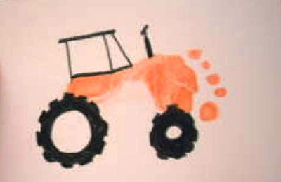 Ayak Traktor Baskisi Okuloncesietkinlikleri Okul Oncesi