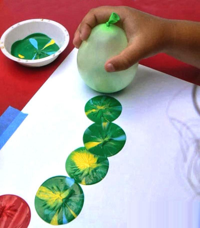 Balon Baskisi Okuloncesietkinlikleri Okul Oncesi Etkinlikleri