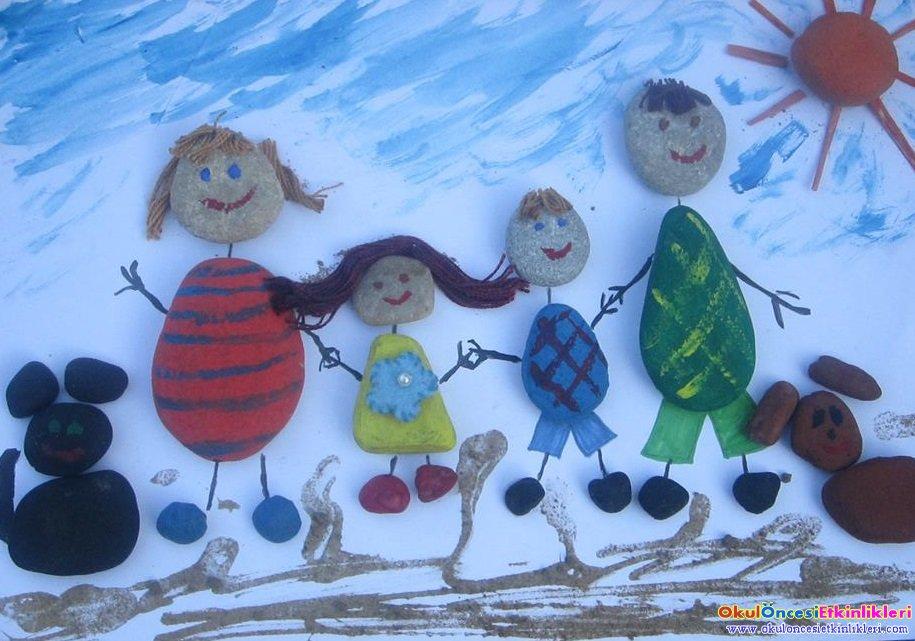 Okul Oncesi Aile Bireyleri Boyama Coloring Free To Print