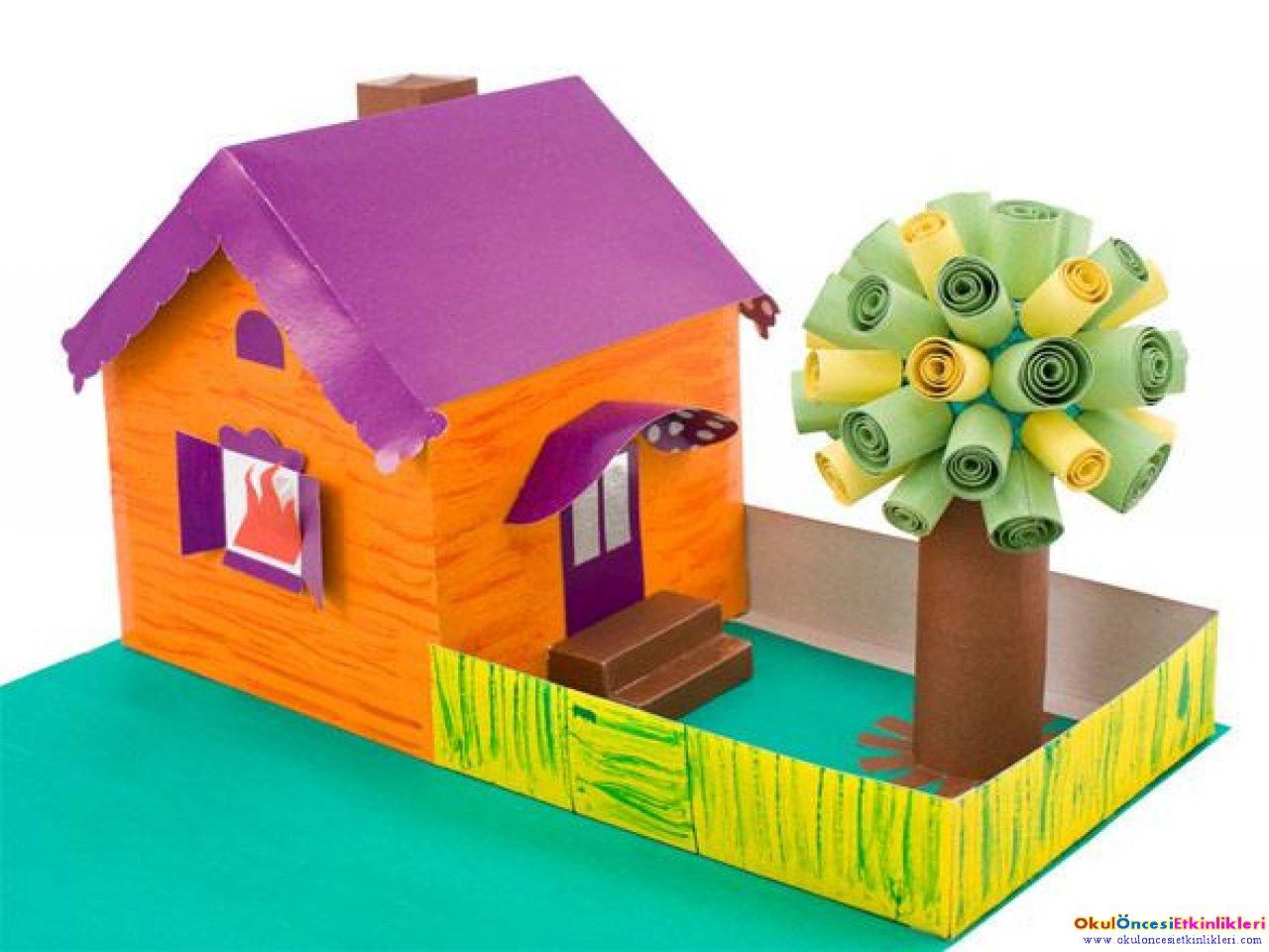 Поделка дом из бумаги своими руками детям