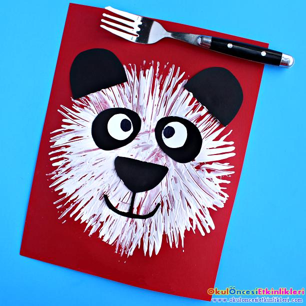 Catal Baskisindan Panda Okul Oncesi Etkinlikleri