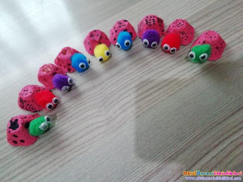 Yumurta Kolisinden Ugur Bocegi Yapimi Okul Oncesi Etkinlikleri